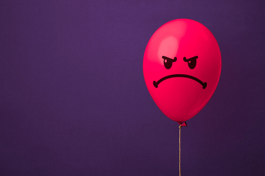 Anger is like a balloon